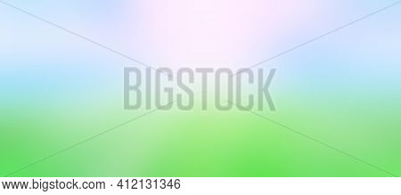 Soft Blurred Abstract Green With Blue Background. Gradient Background For Illustration. Abstract Bri
