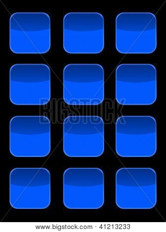 A modern keypad layout isolated on white poster