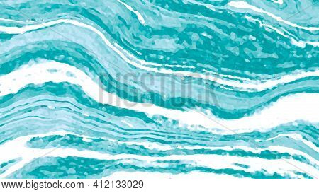 Turquoise, Blue, White Painted Abstract Background, Texture. Painted, Rich, Creative Abstraction. De