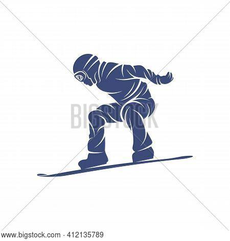 Snowboarding Design Vector Illustration, Creative Snowboarding Logo Design Concepts Template, Icon S