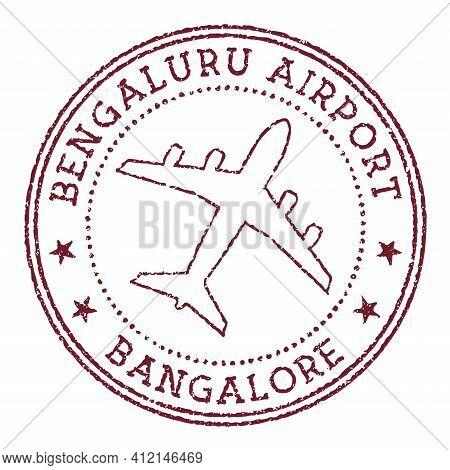 Bengaluru Airport Bangalore Stamp. Airport Of Bangalore Logo Vector Illustration.