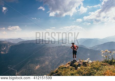 Pushing His Ass On The Edge Of A Rock In Lower Austria On The Side Of Mount Otscher. Fun Positions I