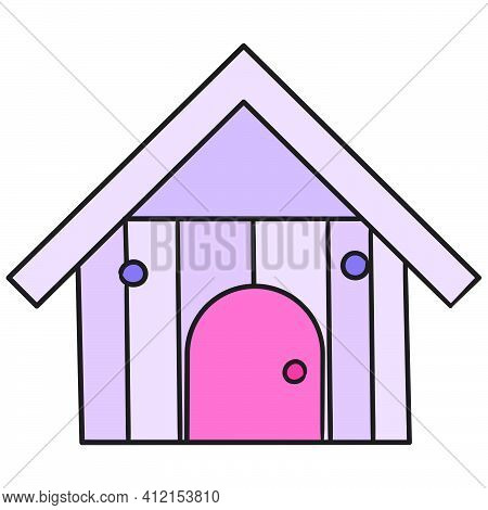 Wooden Pet House Cages, Doodle Kawaii. Doodle Icon Image. Cartoon Caharacter Cute Doodle Draw