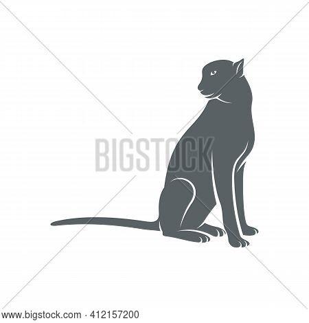 Cheetah Design Vector Illustration, Creative Cheetah Logo Design Concepts Template, Icon Symbol