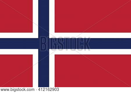 National Norway Flag, Official Colors And Proportion Correctly. National Norway Flag.