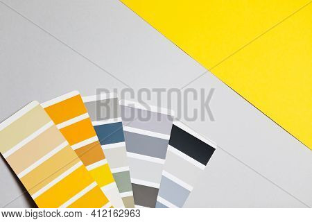 Color Palette With Various Samples. Sample Colors Catalogue.