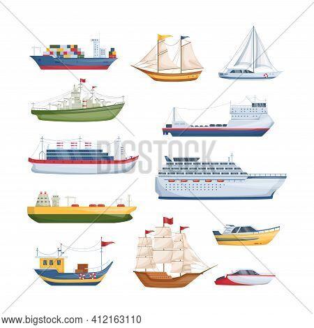 Maritime Ships At Sea, Shipping Boats, Sailboat, Yacht Sailing, Cargo Cruise Ship, Steamship, Vessel