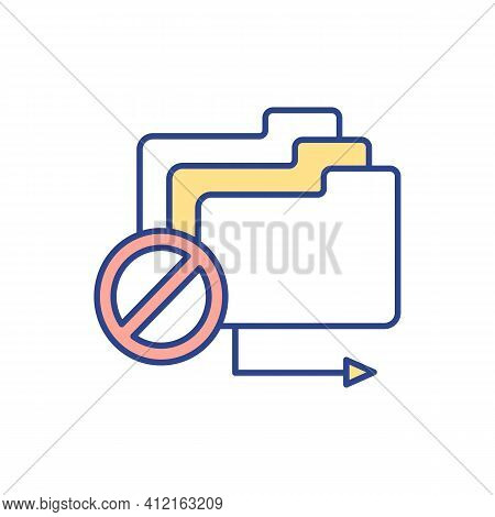 Preventing Document Leakage Rgb Color Icon. Confidential Business Information Protection. Sensitive