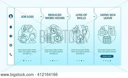 Post Covid Syndrome And Employment Onboarding Vector Template. Reduced Work Hours And Telework. Resp