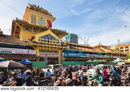 January 2, 2017: Binh Tay Market,  The Central Market Of Cho Lon In District 6, Ho Chi Minh City, Vi