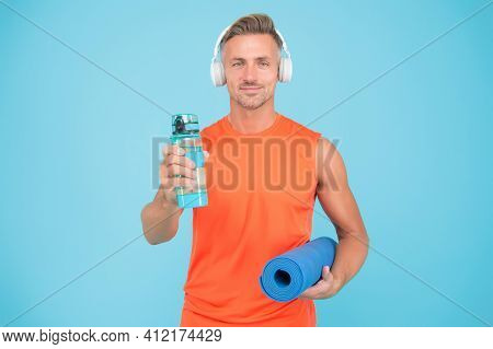 Music For Workout. Yoga Is My Hobby. Personal Training. Challenge Multiple Muscle Groups. Man Practi