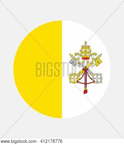 The Vatican City Flag, Official Colors And Proportion Correctly. The Vatican City Flag.