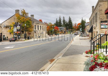 Fergus, Ontario/canada - October 15: A Downtown View On [october 15, 2020] In [fergus]