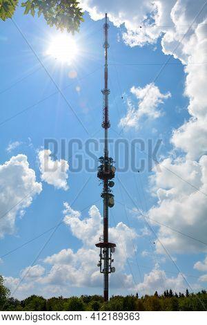 The 227 Meter High Transmitter Kreuzberg Is A Transmitter On The 927.8 Meter High Kreuzberg, In The