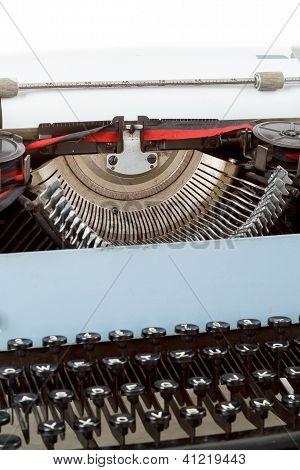 Retro Typewriter Close Up With Detail Of Keys