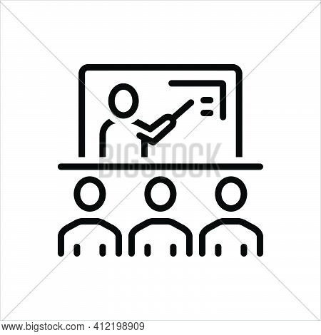 Black Line Icon For Teach Educate Edify Lecture Instruct Teaching Classroom