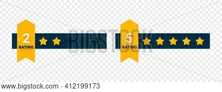 Rating Signs. Rating Stars. Scale Stars Customer Product Rating. Vector Illustration