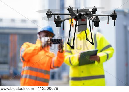 Industrial Unmanned Drone Survey, Monitoring And Discovery
