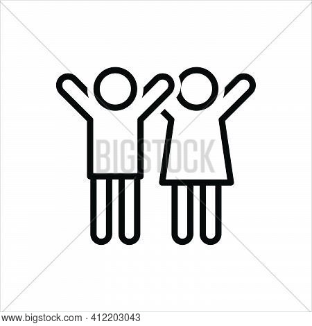 Black Line Icon For Youth Juvenility Teens Guy Teenager Youngster Juvenile Fellow