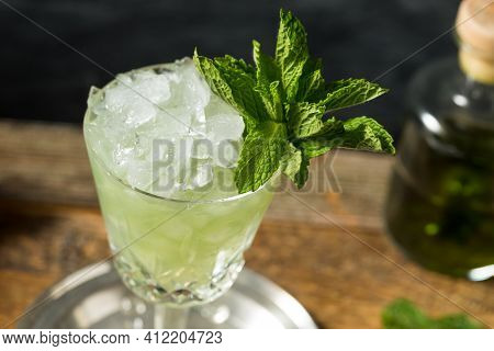 Boozy Refreshing Absinthe Frappe Cocktail