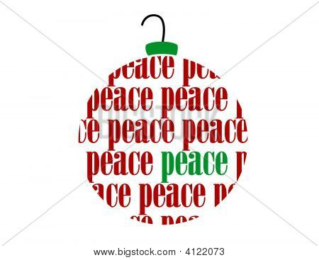 Christmas Peace Text Word Vector Ornament Ball