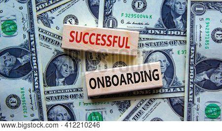 Successful Onboarding Symbol. Wooden Blocks With Words 'successful Onboarding'. Beautiful Background