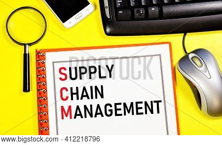 Supply Chain Management. Text Label In The Business Planning Folder. Organizational Strategy For Mon