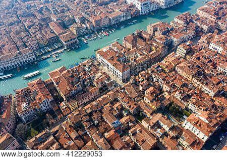Venice, Grand canal from the sky