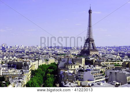 Eiffel tower, city of Paris