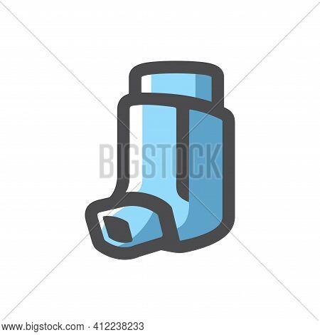 Inhaler Inhalation Device Vector Icon Cartoon Illustration