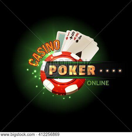 Casino Online Poker Traditional Cards Set For Safe Gambling Getting Cash Money Internet Design Poste