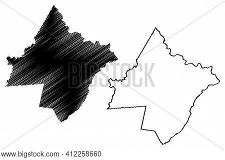 Pike County, Commonwealth Of Pennsylvania (u.s. County, United States Of America, Usa, U.s., Us) Map