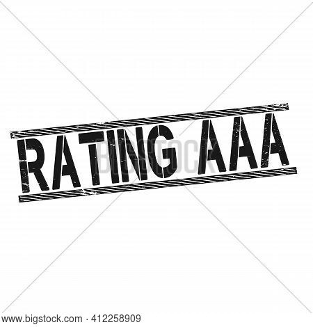 Rating Aaa Grunge Vintage Stamp Isolated On White Background