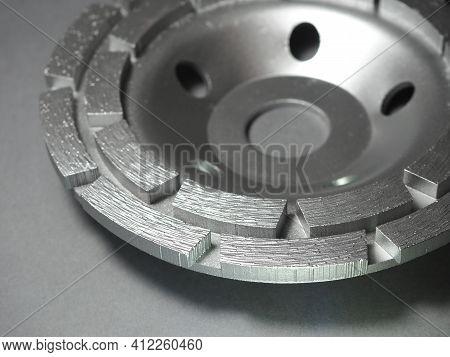 Double Row Diamond Cup Wheel For Angle Grinder. Diamond Grinding Cup.