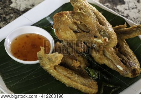 Spicy Chicken Wings Deep Fried, Stock Photo