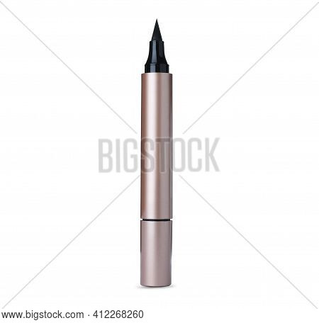Modern Eyeliner Isolated On White. Makeup Product