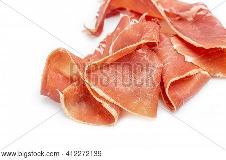 Hamon Is Forty-eight Weeks Old. Spanish Jamon And Traditional Food, Jamon Serrano, Bellota, Italian