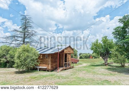 Bloemfontein, South Africa - February 27, 2021: View Of The Ablution Building At Farm Windhoek, A Wo