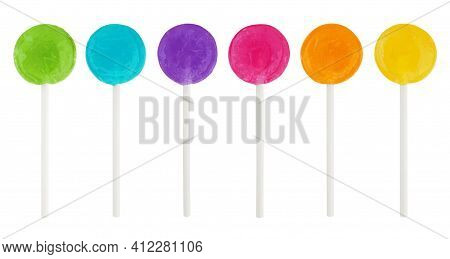 Candies. Colorful Bright Chewy Candies Covered With Sugar. Colorful Jelly Candies.