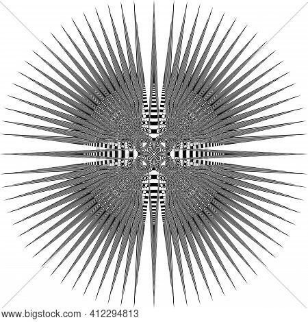 Royal Schield Arabesque Heraldic Sign Abstract Background Illusion Arabesque Intersections Designer