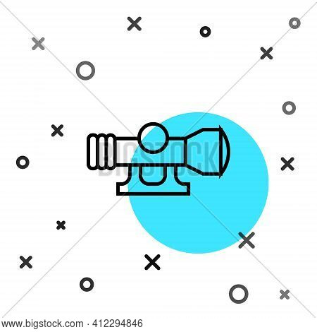 Black Line Sniper Optical Sight Icon Isolated On White Background. Sniper Scope Crosshairs. Random D