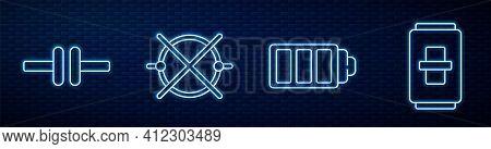 Set Line Battery Charge Level Indicator, Electric Circuit Scheme, Electric Circuit Scheme And Electr