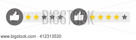 Stars Rating. Rate Sign. Choice Rating Review. Rating System Based On Stars. Vector Illustration