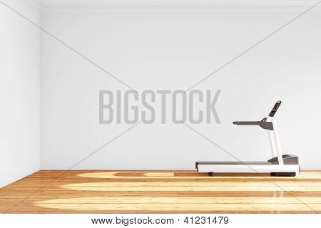 Treadmill In Empty Room