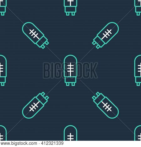 Line Light Emitting Diode Icon Isolated Seamless Pattern On Black Background. Semiconductor Diode El