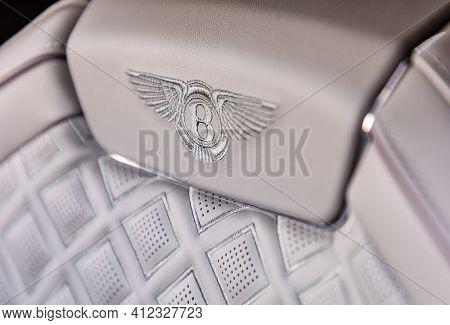 Prague, Czech Republic - January 11, 2021: Seat Of Bentley Vehicle In Prague, Czech Republic, Januar