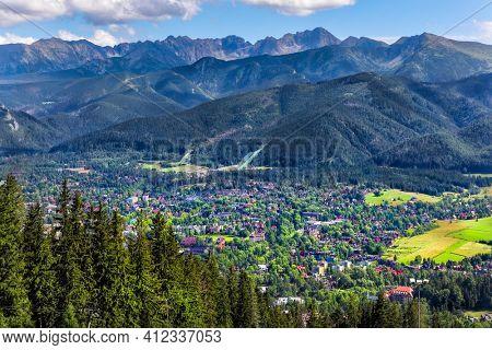 Beautiful mountain landscape view of Zakopane in Poland