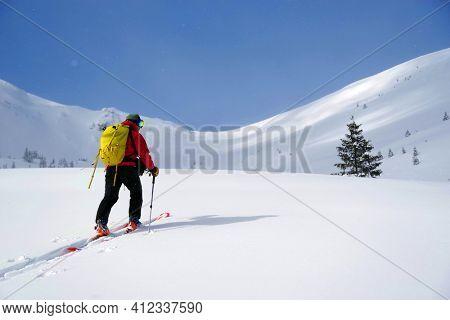 Ski tour in Godeanu Mountains, Carpathians, Romania, Europe