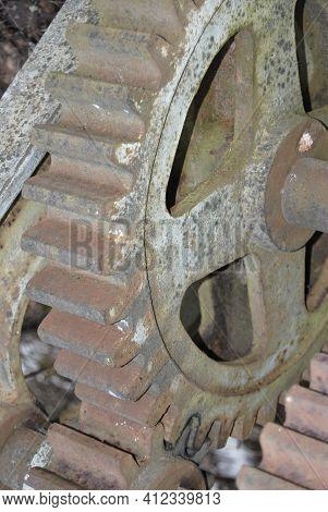 Vintage Gear Of Handy Mechanical Railroad Transmission
