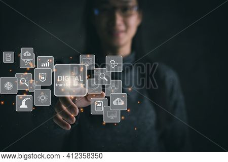 Digital Transformation Technology Strategy, Digitization And Digitalization Of Business Processes An
